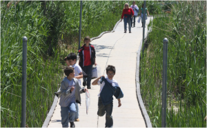 Image of children on boardwalk